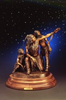 Stargazers - Kliewer South West Bronze Sculpture By Cow Girl Up Artist at Mountain Spirit Gallery in Prescott, Arizona