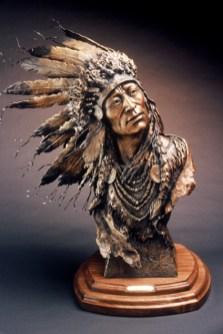 Spirit Wind - Kliewer Woman Western Art Bronze Sculpture at Mountain Spirit Gallery in Prescott, Arizona