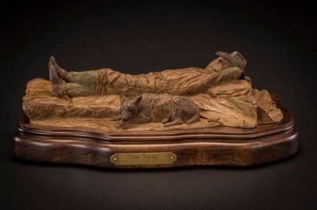 Dog Tired- Bill Nebeker Western Bronze Sculpture at Mountain Spirit Gallery in Prescott, Arizona