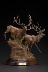 Over the Rim - Bill Nebeker Western Wild Life Sculpture at Mountain Spirit Gallery in Prescott, Arizona