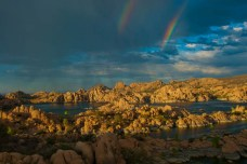 WATSON LAKE DOUBLE RAINBOW_