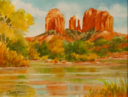 Cathedral Rock, Sedona Watercolor 8X10 $350.00