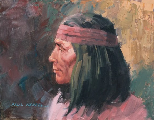 Apache Scout - Oil 11X14 Sold