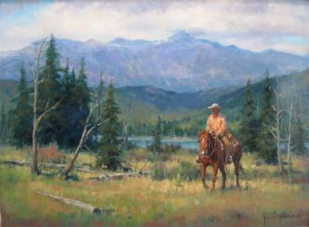 Checking The Summer Graze Oil 18X24 $2600.00 SOLD