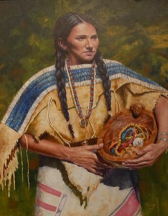 Jewel of Her People oil 24X30 By Ron Lape $3600.00 Sold
