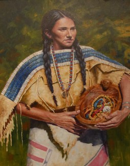 Jewel of Her People oil 24X30 By Ron Lape