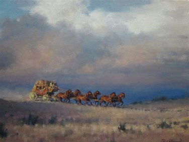 Prairie Stage - Oil 18X24 $2800.00