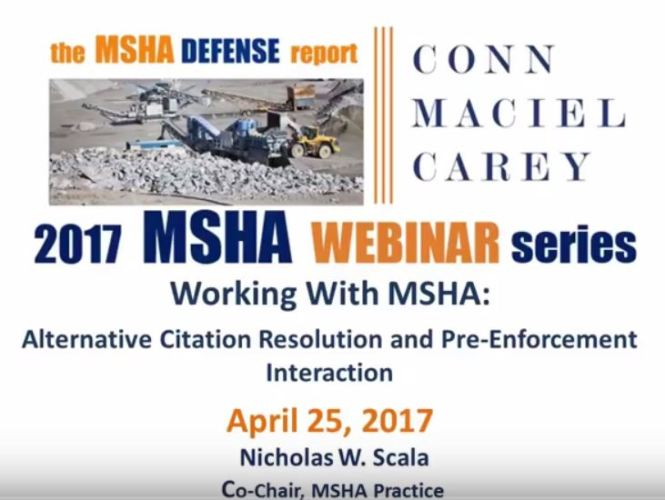 Working With MSHA Snip