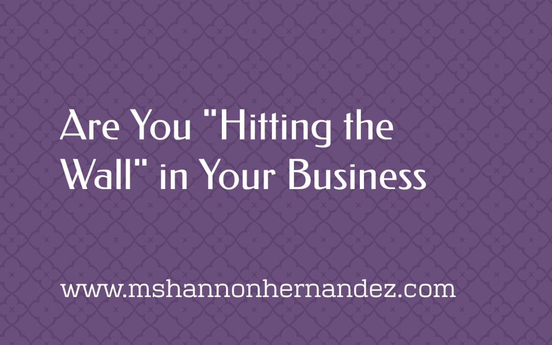 """Are You """"Hitting the Wall"""" in Your Business?"""