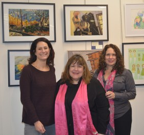 Art Advisory Members Victoria Plummer, Laraine Barach and Amy McGovern