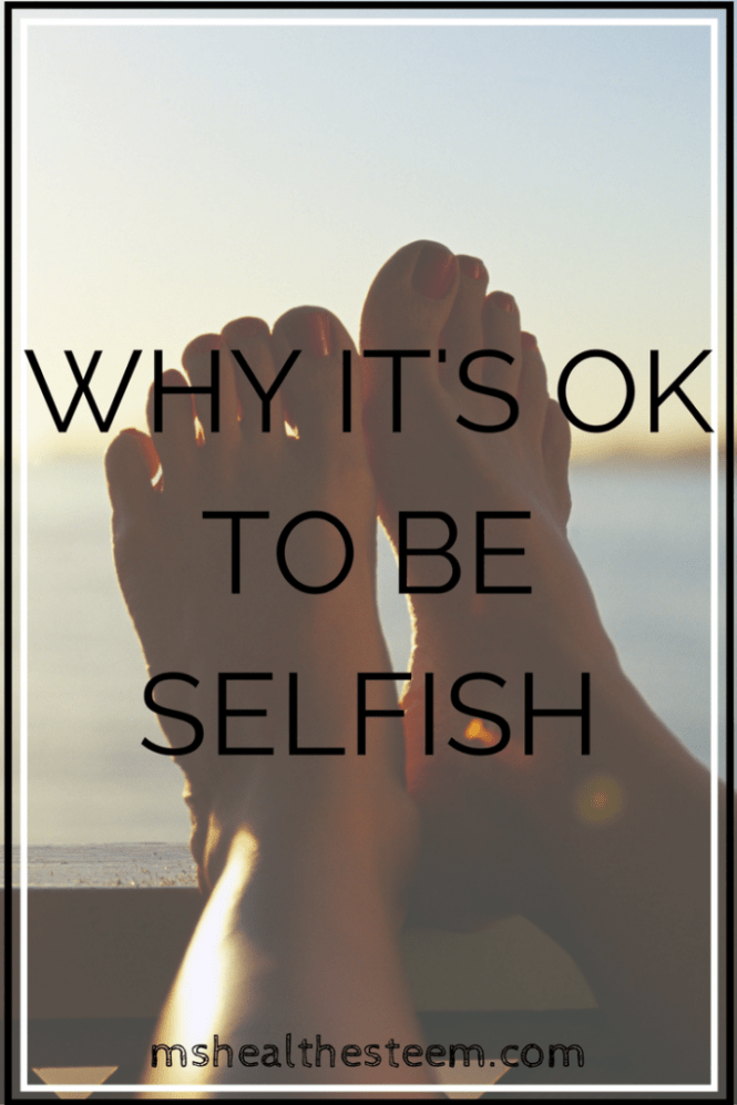 Graves Disease made me realize that being selfish is not only healthy, it is necessary, and I think that you should try it too.