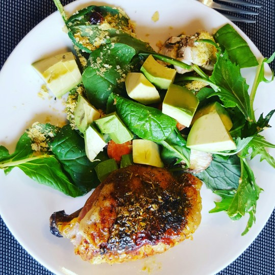 Avo Salad and Organic, Local Chicken