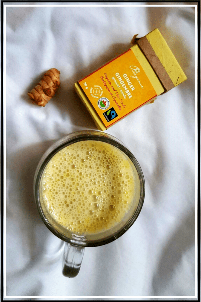 Treat yourself to a delicious, anti-inflammatory, golden milk smoothie. This recipe is vegan, gluten free, paleo and refined sugar free. Only 7 ingredients.