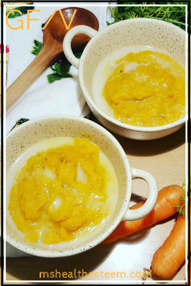 Craving something quick and delicious? Give this marvelous carrot soup for two a go. It's vegan, gluten free and 100% delicious. Hello yum town!