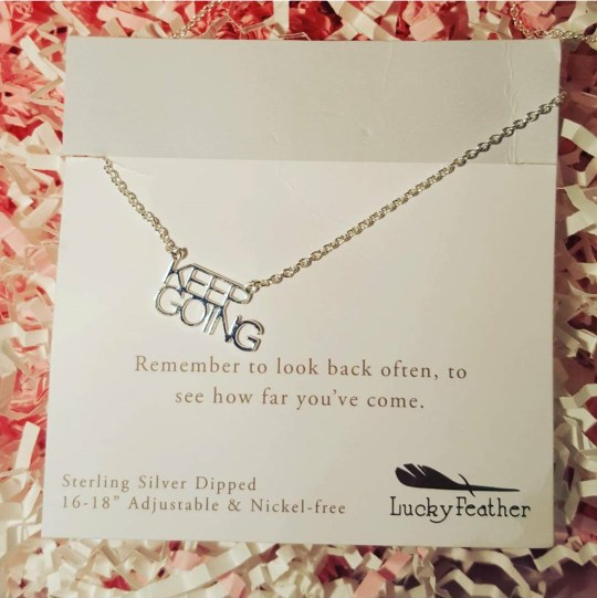 ChronicAlly Box - The Monthly Must Have Subscription Box - lucky-feather-keep-going-necklace