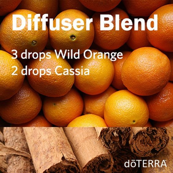Monday Inspiration Board - Wild Orange Cassia Diffuser Blend doTERRA