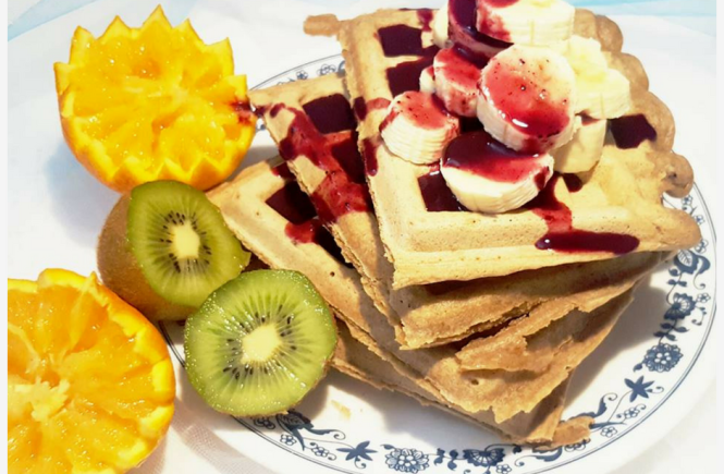 Gluten Free Waffles With Blueberry Syrup mshealthesteem.com