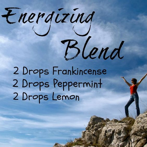 Your Monday Inspiration Board - Energizing Essential Oil Diffuser Blend using Peppermint Oil, Lemon Oil and Frankincense Oil