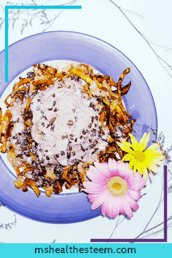 The Yummiest Dessert Sweet Potato Fries You Didn't Know You Needed | Vegan, Gluten Free, Dairy Free, Refined Sugar Free. This healthy dessert is easy to make and totally delicious. Featuring peanut butter sauce and chocolate whipped cream. Click through for the recipe.