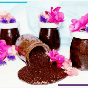 This Easy Exfoliating DIY Face Scrub is AMAZING for Your Skin | Made with 5 ingredients, including coffee grounds, this face scrub can help to create soft, glowing skin, exfoliate and increase circulation, and reverse sun damage and puffiness. Click through for the simple, vegan, gluten free recipe. #diybeauty #healthybeauty #veganbeauty #glutenfree #healthyrecipe