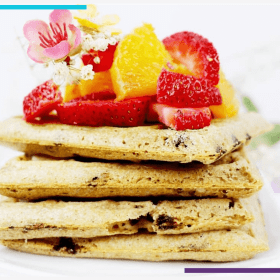 Hungry? This Is The Gluten Free Waffle Recipe For You! | These gluten free waffles are easy to make and feature delicous dairy free chocolate chips and tons of yum! Perfect if you're looking for some Sunday brunch ideas or a fun breakfast recipe. Click through for the goodness! #veganrecipe #glutenfreerecipe #glutenfreewaffles