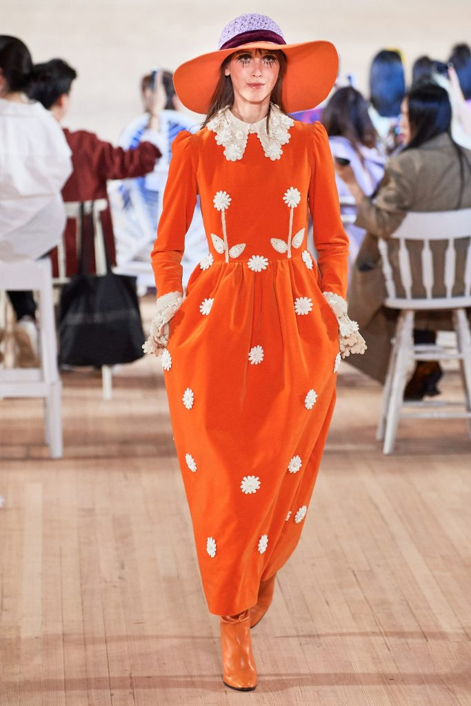 Marc Jacobs all orange look from Summer 2020