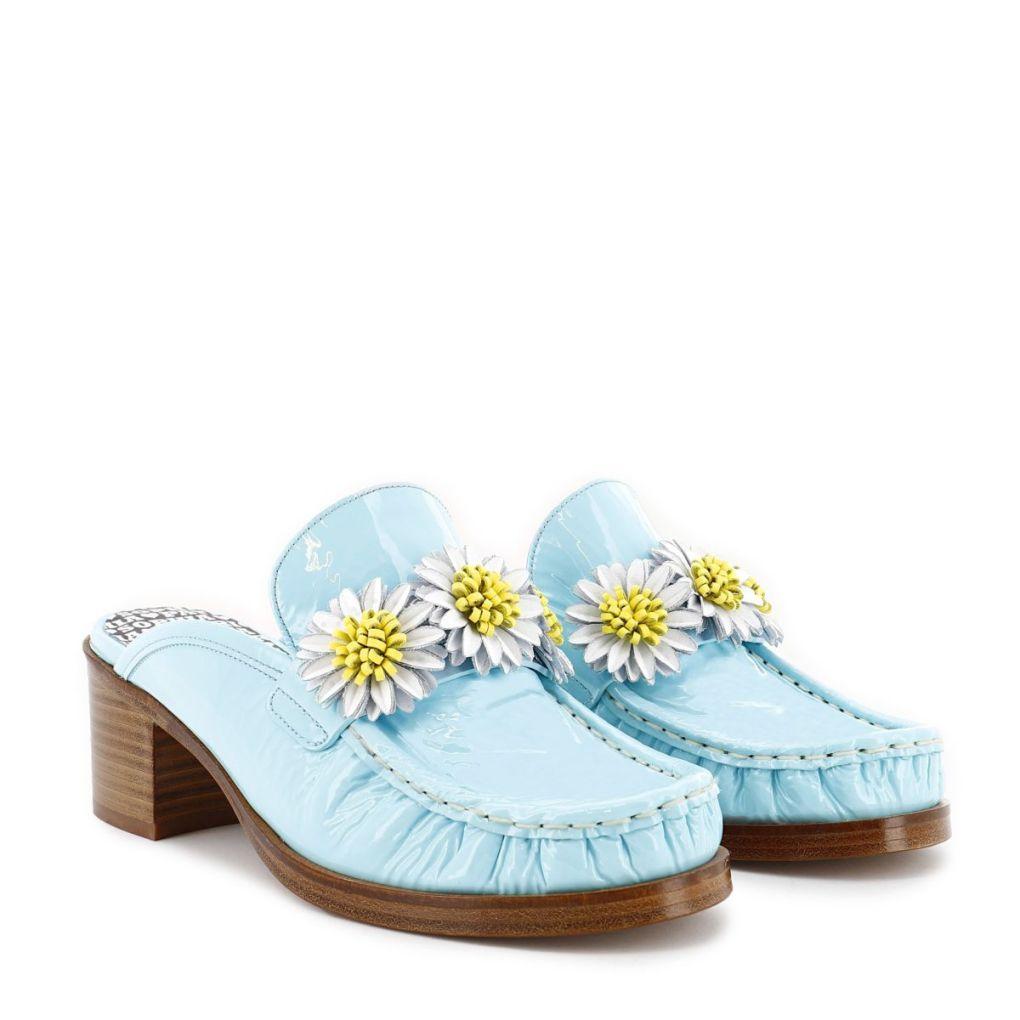 Sophia Webster & Patrick Cox daisy loafer mule.