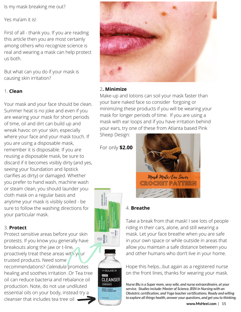 Why your face mask is causing acne & to cure it.