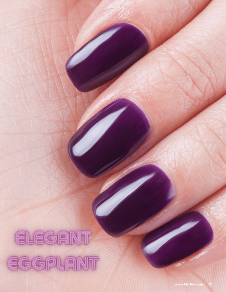 Elegant eggplant nail polish colors for f/w 2020