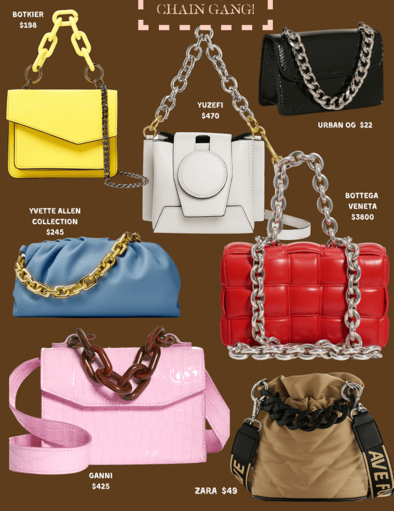 The Ultimate Handbag Guide For Fall/Winter 2020. Trend: chains