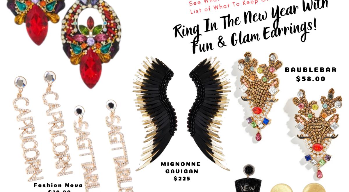 NYE themed earrings