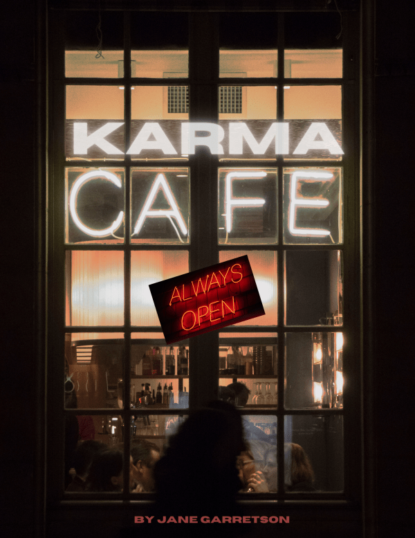 Karma cafe always open and always ready to serve.