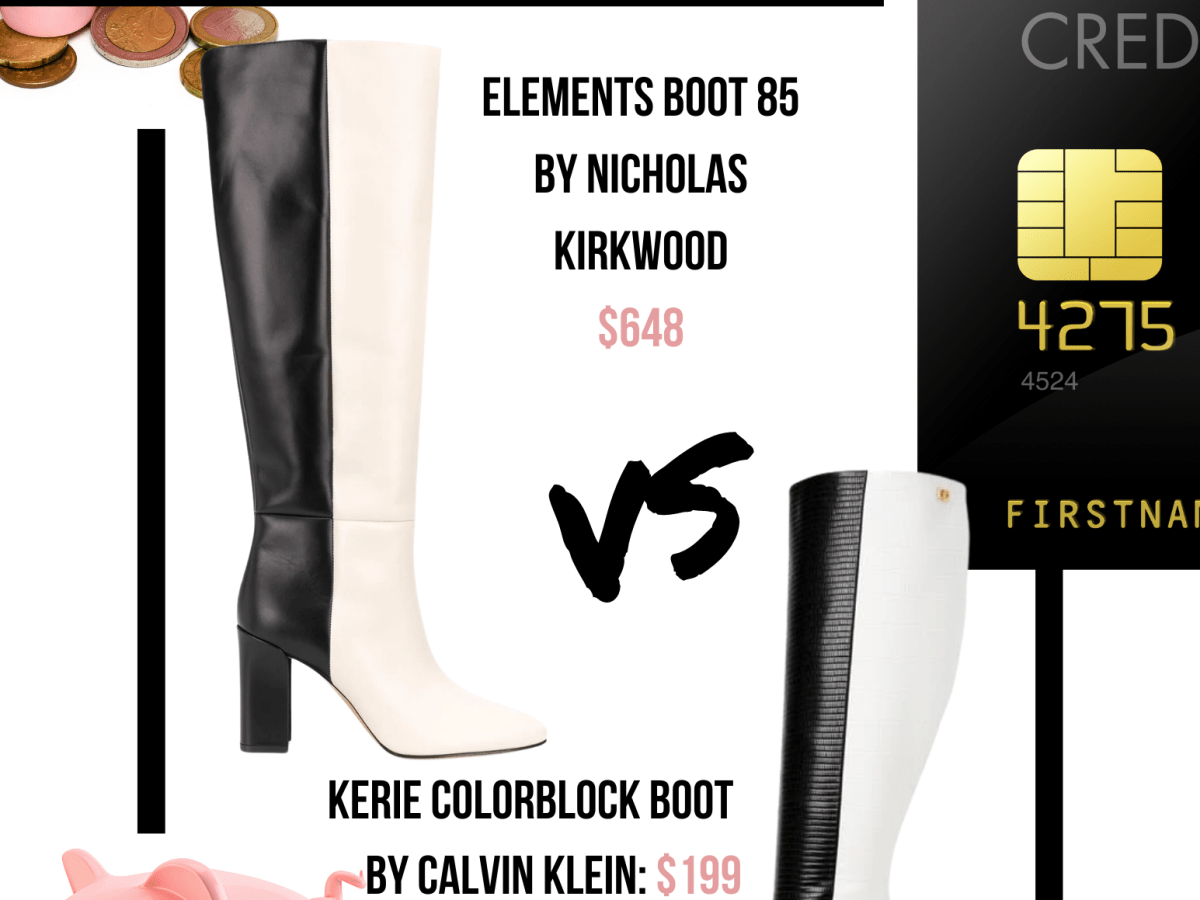Real vs steal featuring the black and white boots of Calvin Klein and Nicholas Kirkwood