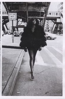 Naomi Campbell In fur coat and heels