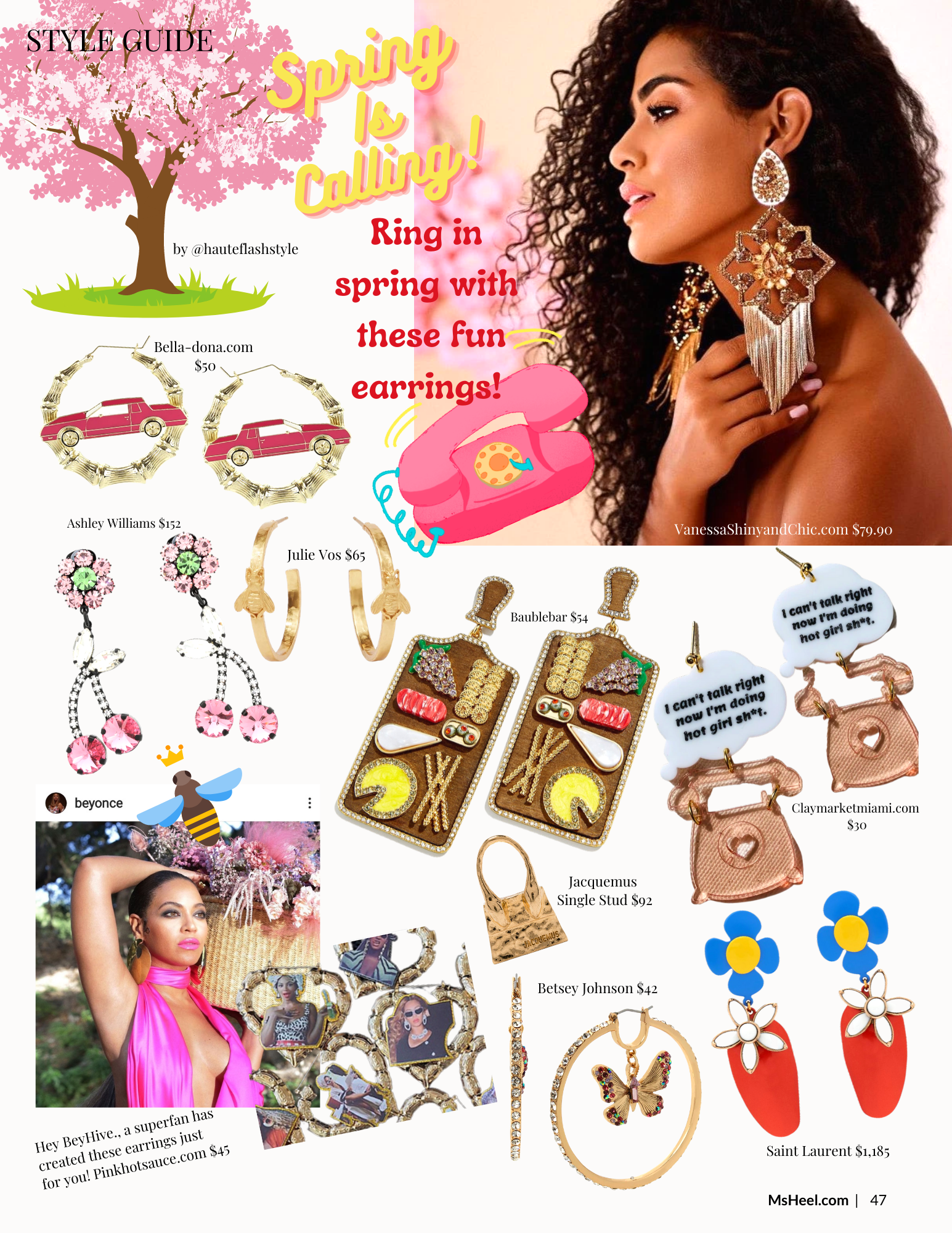 Spring Statement Earrings to wear now