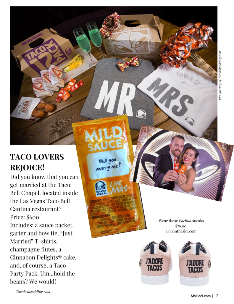 Get married at the Taco Bell Chapel in Las Vegas