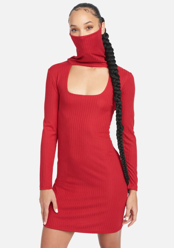 BeBe dress with mask