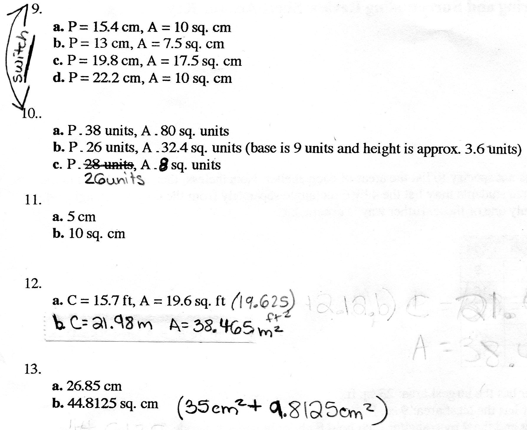 Beam Balance Worksheet Answers Geometry Review Answer Key P2 Images