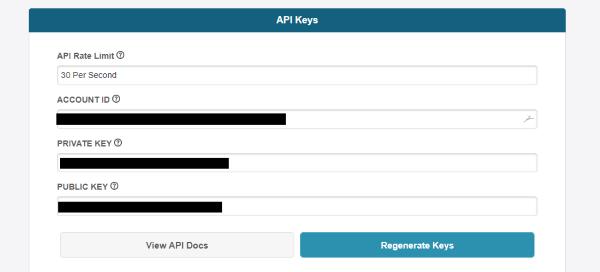 AtomicPay API Integration page