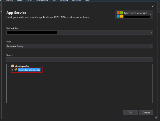 Publish to Azure Step 2