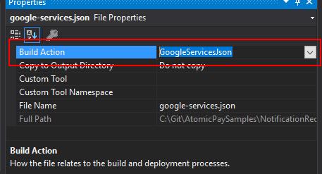 VS-google-services-build-action