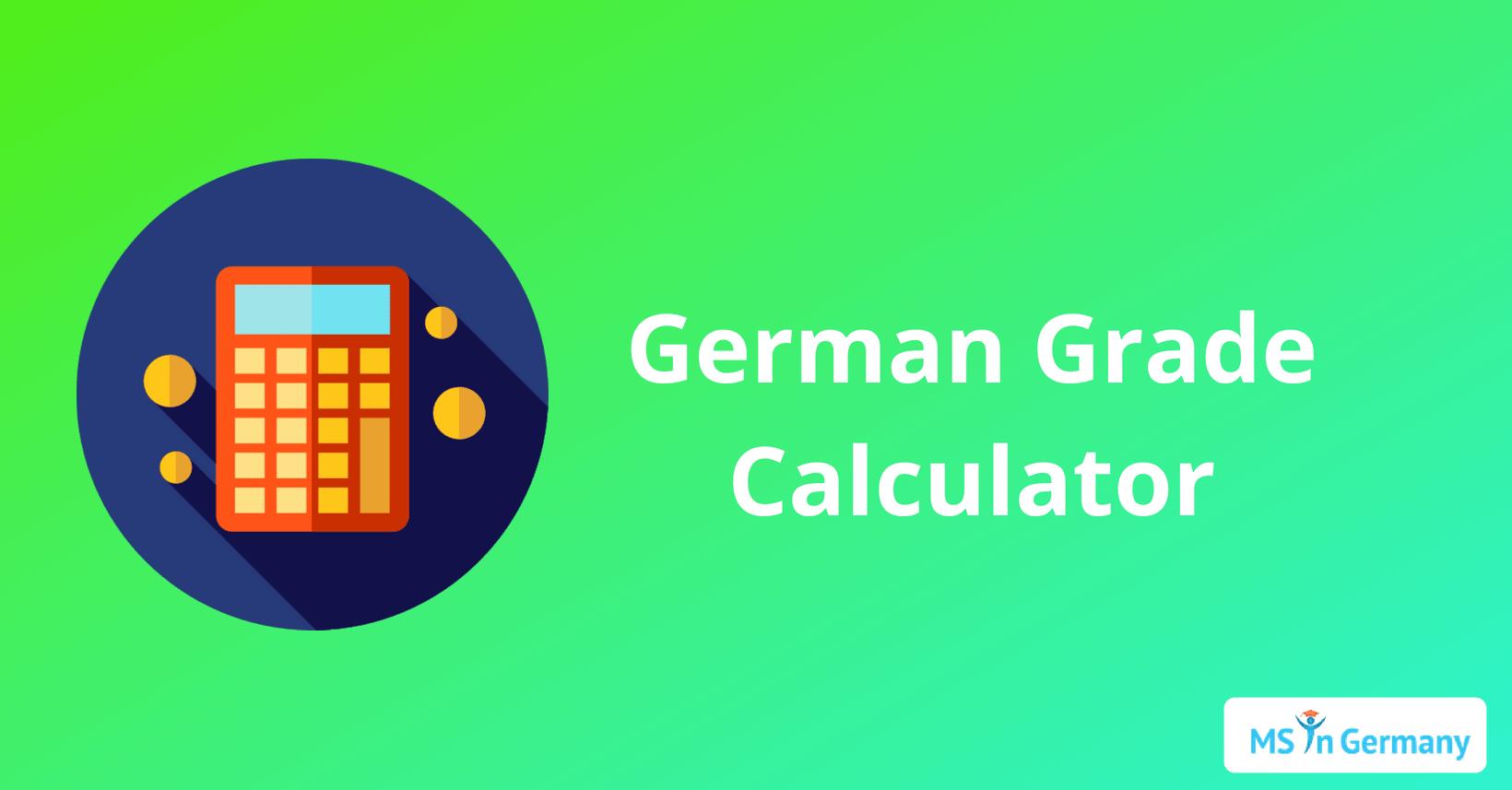 german grade calculator ms in germany