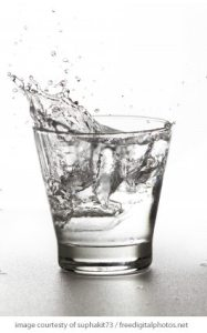 water splash glass