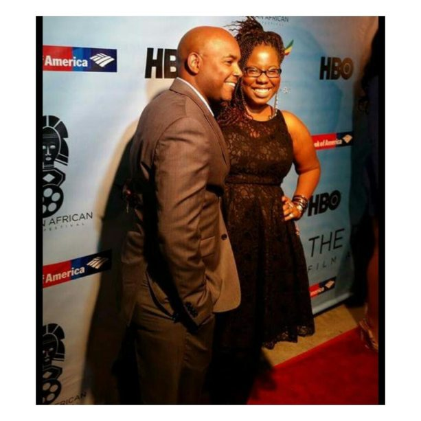At the Pan African Film Festival 2015 Closing Night Film, The Man In 3B, Directed by Trey Haley (in photo), Casting by Natasha Ward, Photo credit by Tiffany Cudjoe