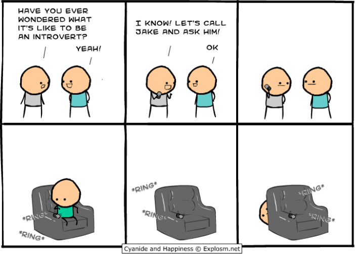 Cyanide & Happiness: Introvert
