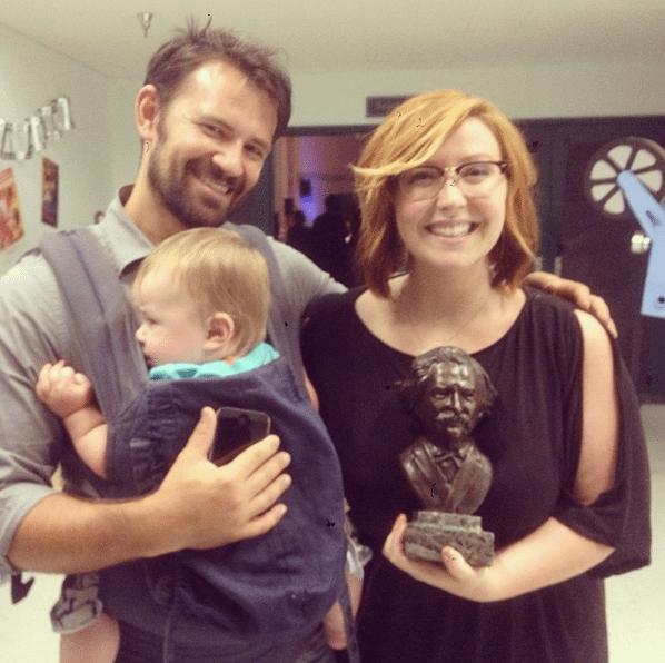 (@JennicaRenee & @RyanSchwartzman after receiving the BEST FEATURE Award at Film Fest Twain Harte, post ceremony. Instagram.)