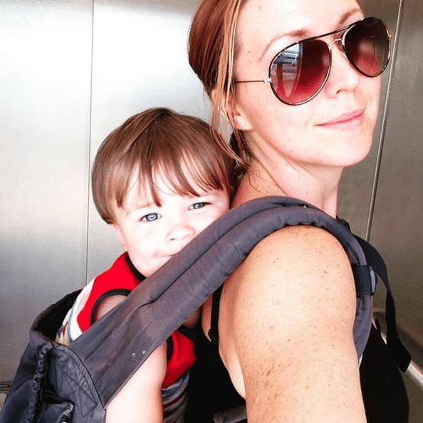 Team Schwartzman is always on the go #Ergo #LAX - @JennicaRenee Instagram