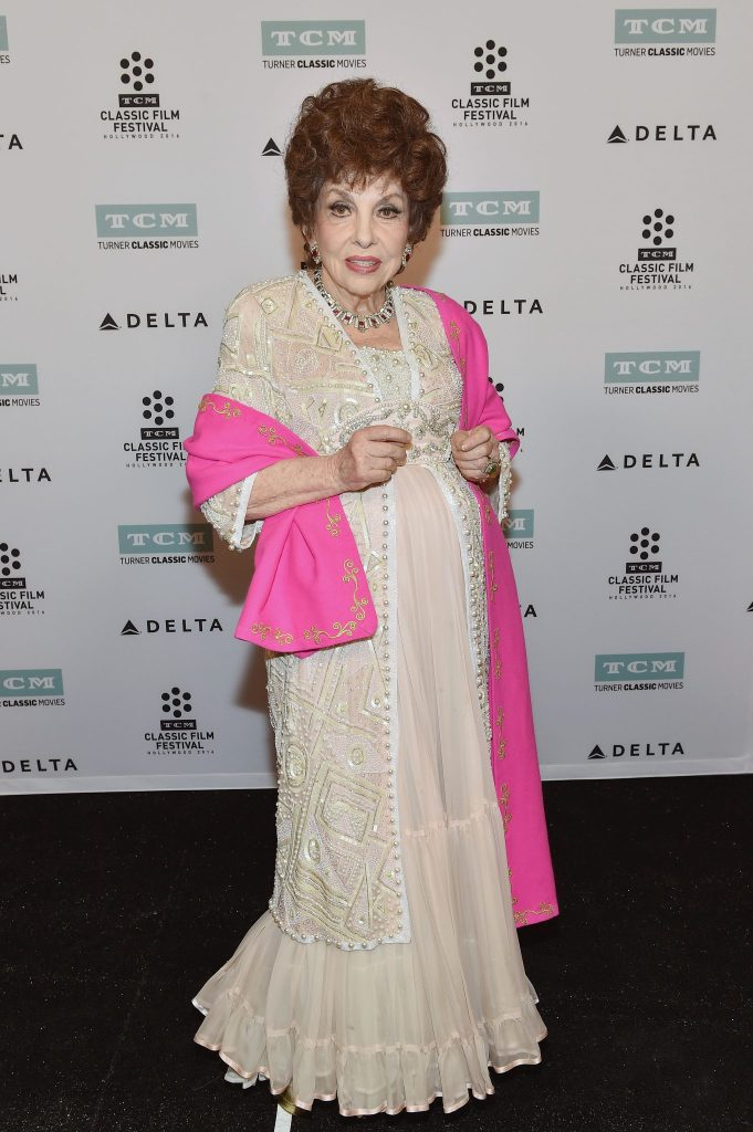 LOS ANGELES, CA - APRIL 30: Actress Gina Lollobrigida attends 'Buona Sera, Mrs. Campbell' screening during day 3 of the TCM Classic Film Festival 2016 on April 30, 2016 in Los Angeles, California. 25826_008 (Photo by Mike Windle/Getty Images for Turner) *** Local Caption *** Gina Lollobrigida