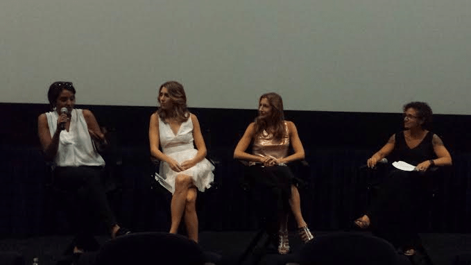 Taken at a screening the Geena Davis Institute Of Gender In Media. Not sure if you need this but from left to right the people in the image are: director Meera Menon (holding mic), creator/writer/actress Sarah Megan Thomas, writer/actress Alysia Reiner and moderator Alex Cohen.