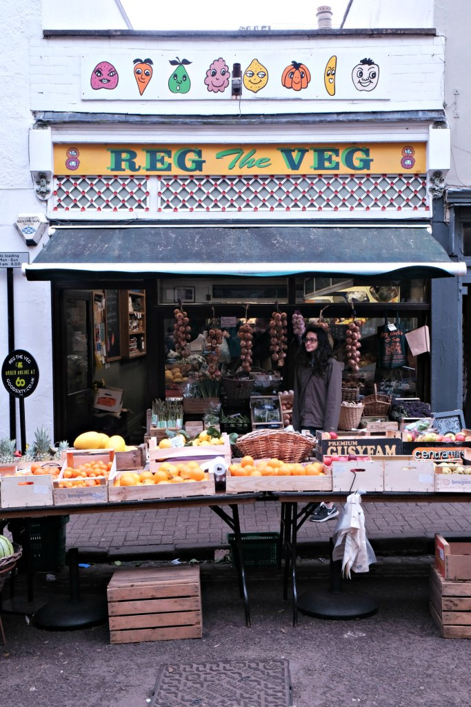 Picture of reg the veg shop in clifton village.  48 hours in clifton itinerary.